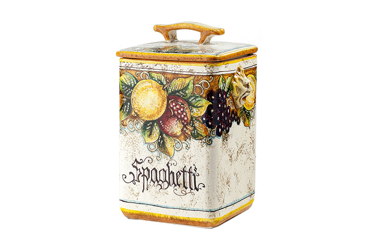 Pasta storage jar and cover