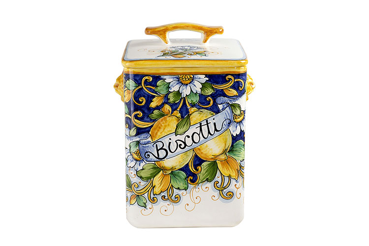 Tall biscuit jar and cover