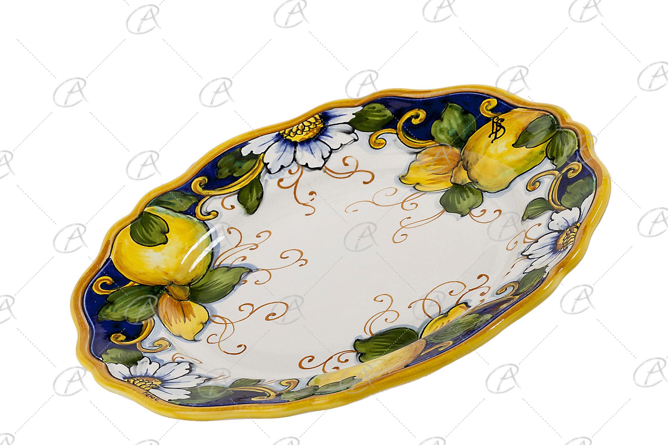 Come Appendere Piatti In Ceramica piatto da appendere tondo - l'antico ceramiche